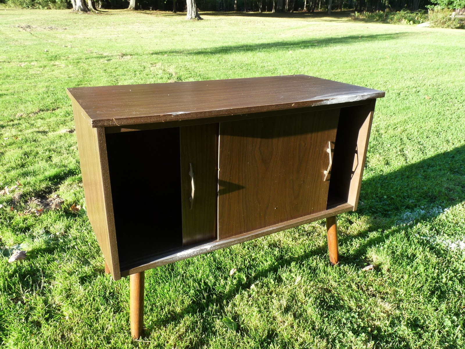 Gathered Vintage Home: MCM record cabinet makeover