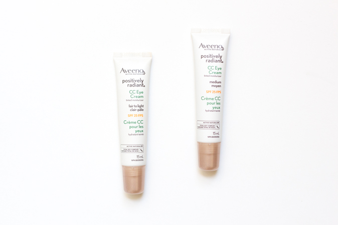 aveeno postively radiant cc eye cream review
