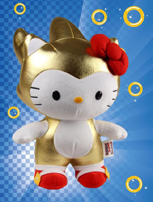 San Diego Comic-Con 2016 Exclusive Gold Sonic the Hedgehog x Hello Kitty Plush by Toynami