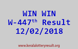 WIN WIN Lottery W 447 Results 12-02-2018