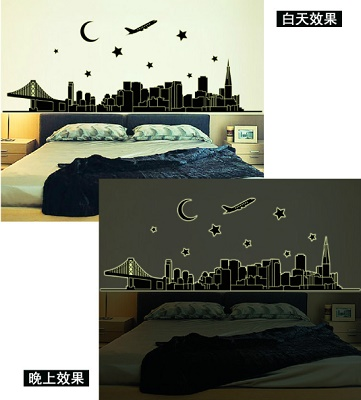 wall sticker glow in the dark murah