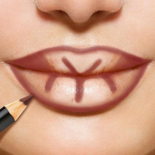 maquillaje de labios de kim kardashian