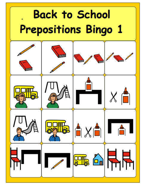 photograph regarding Back to School Bingo Printable called Chapel Hill Snippets: Back again in direction of College Bingo---totally free printable