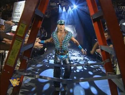 WWF / WWE - SUMMERSLAM 1995 - Intercontinental Champion Shawn Michaels fought Razor Ramon in a ladder match