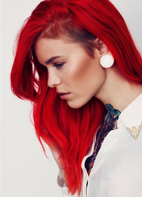 Half Shaved Red Hair