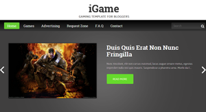 iGame Free Gaming Blogger Template
