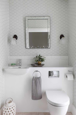 แบบห้องน้ำขนาดเล็กสีขาว
