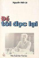 Để Tôi Đọc Lại - Nguyễn Hiến Lê