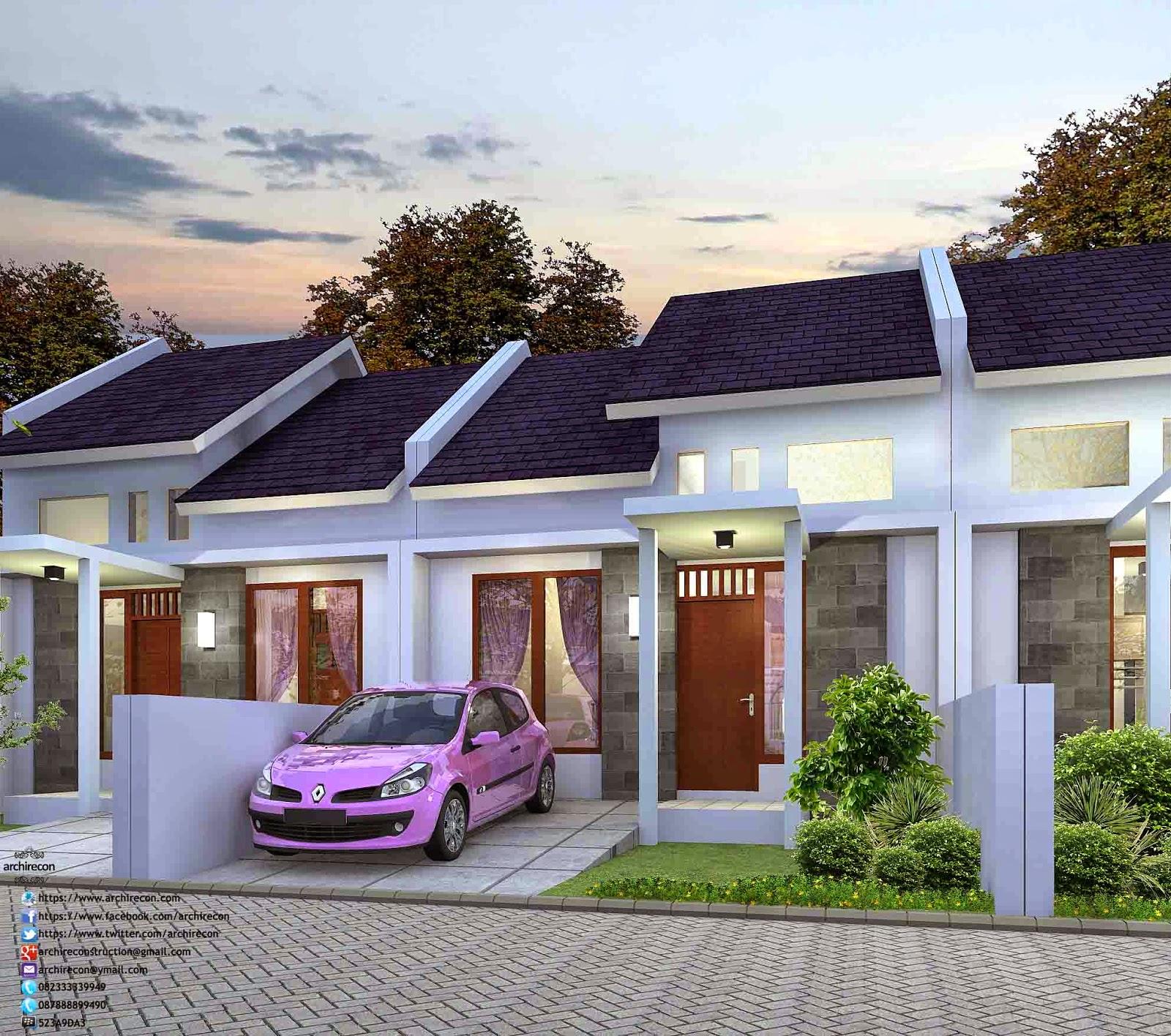 Desain Rumah Minimalis - Type 36 3D View
