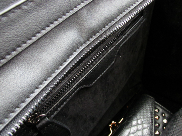 velvet inner fabric & zipper BAGINC Vanessa Large Tote Suede Leather Black Bag - REVIEW