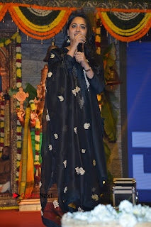 Actress Anushka Anushka Shetty Stills in Black Salwar Kameez at Om Namo Venkatesaya Audio Launch Event  0051.JPG