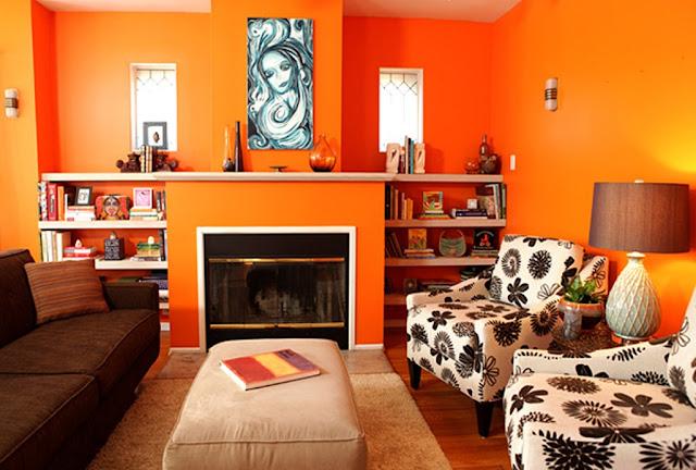 Warna Cat Rumah Minimalis Orange
