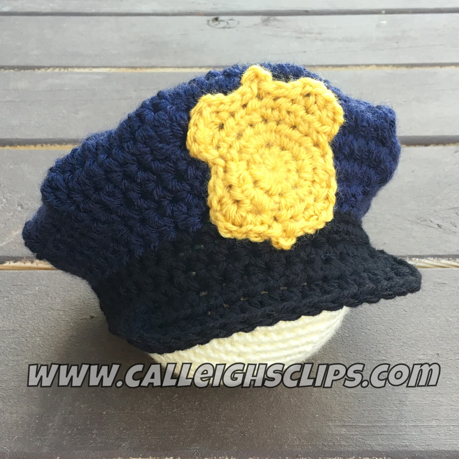 Calleigh\'s Clips & Crochet Creations: Police Officer Crochet Hat and ...