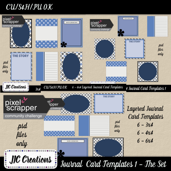 Free CU Journal Card Templates & I