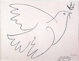 Dove & olive branch Picasso Symbol of Peace