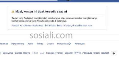 mengunjungi profile facebook