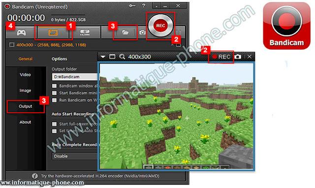 تحميل برنامج bandicam لتسجيل شروحات الفيديو للألعاب كامل مع تفعيل