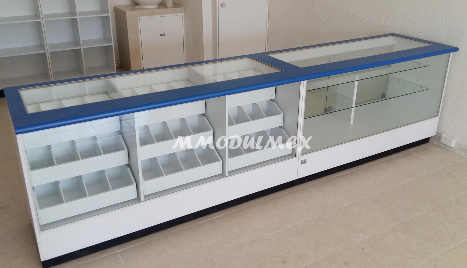 Mostradores vitrinas estantes estanter a anaqueles for Muebles para supermercado