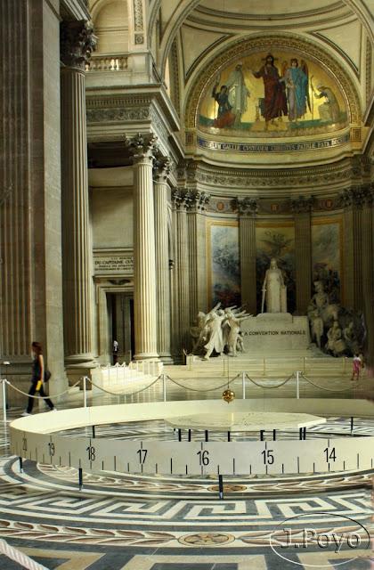 péndulo de Foucault, Panteón, Paris