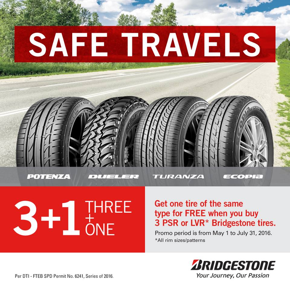 Go on a Worry-Free Trip on Bridgestone Tires