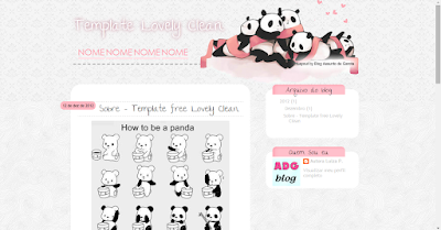 layout free, blogspot, download, template, layout, blogger, design, gratis, fofo, kawaii, pandas