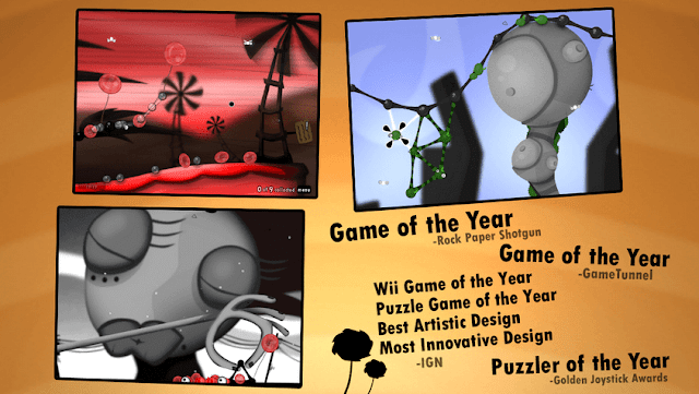Game puzzle android - World Of Goo seru dimainkan dengan teka-teki sulit