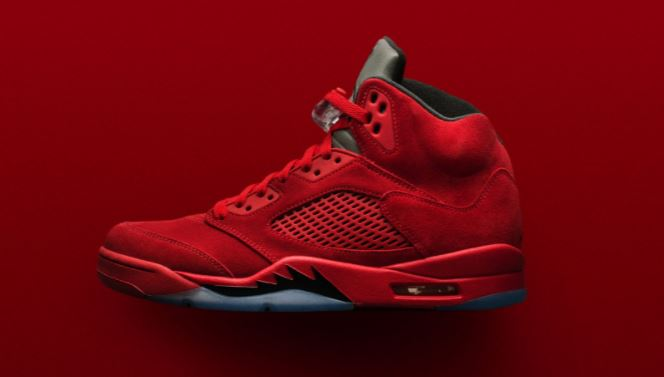 3960b9282fe ... usa here is a detailed look at the air jordan 5 red suede 2017 retro  sneaker