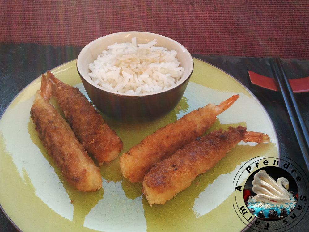 Tempura japonaise aux crevettes, légumes ou poissons