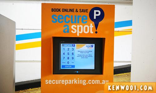 secure parking kiosk