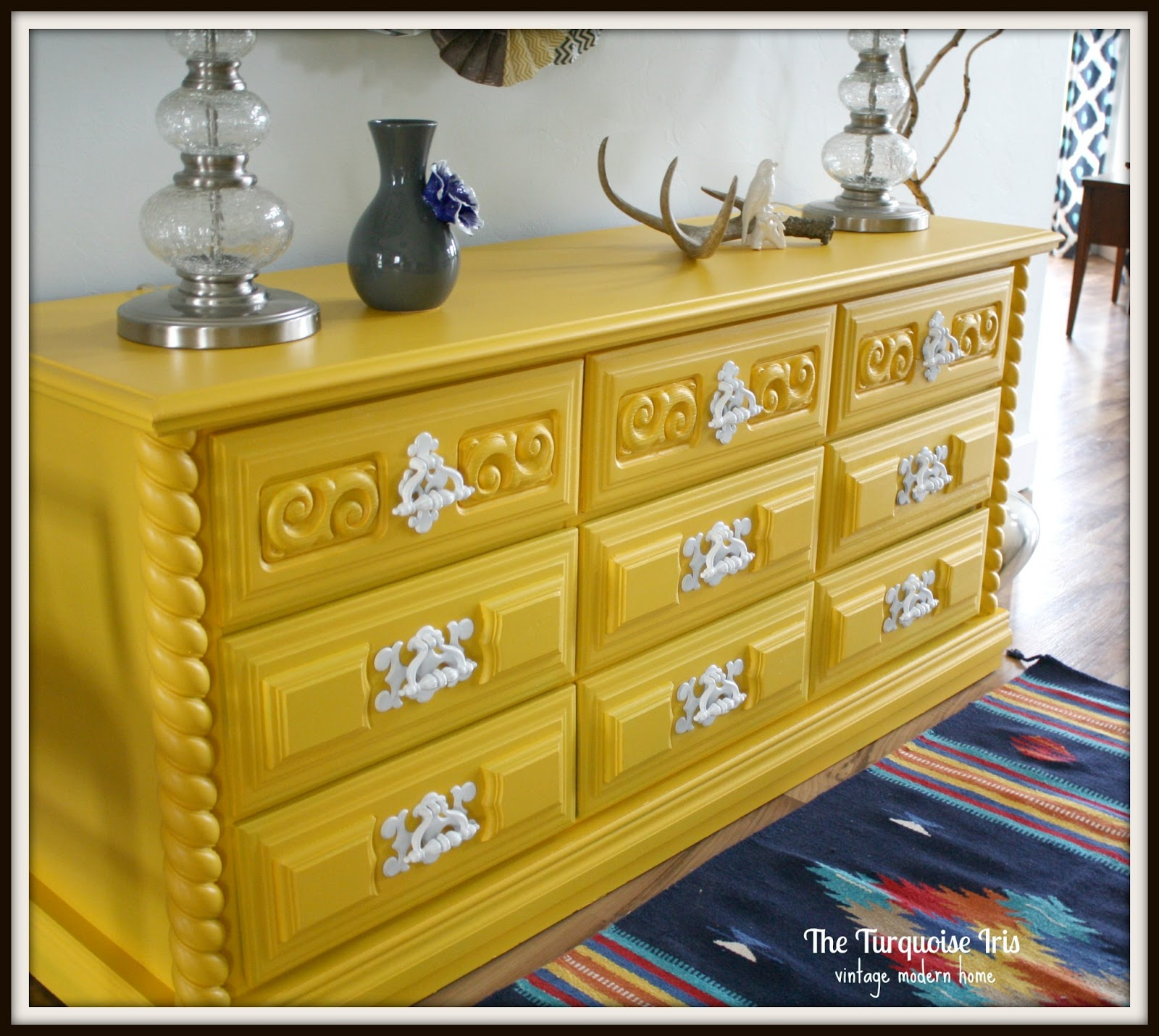 The Turquoise Iris Furniture Amp Art Yellow Vintage Dresser