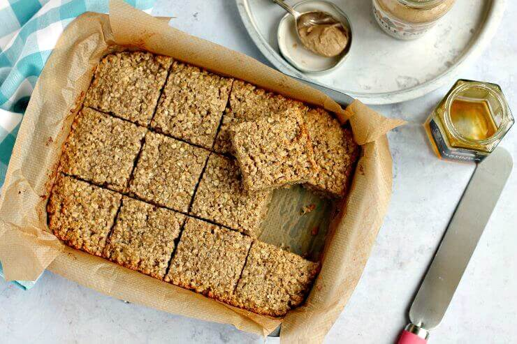 Banana and Peanut Butter Flapjacks