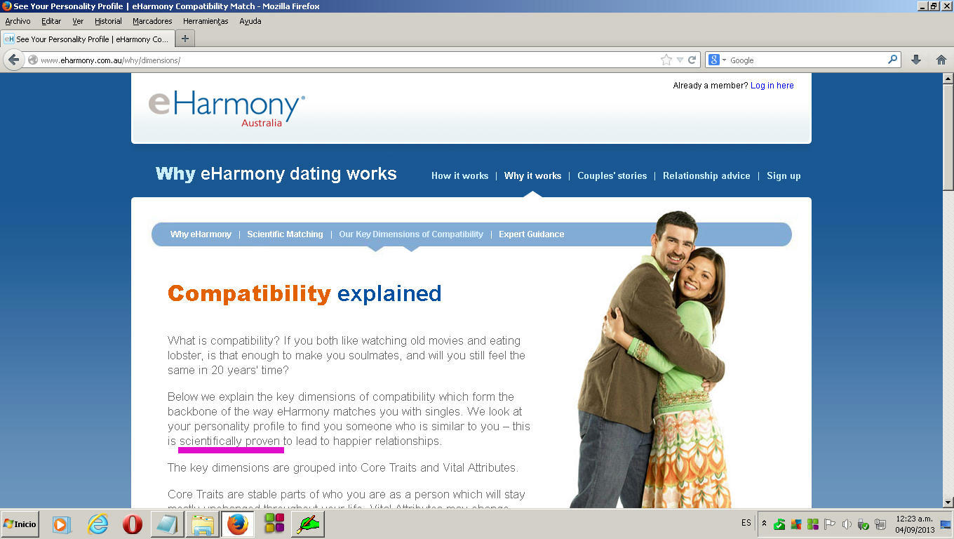 Online dating sites eharmony