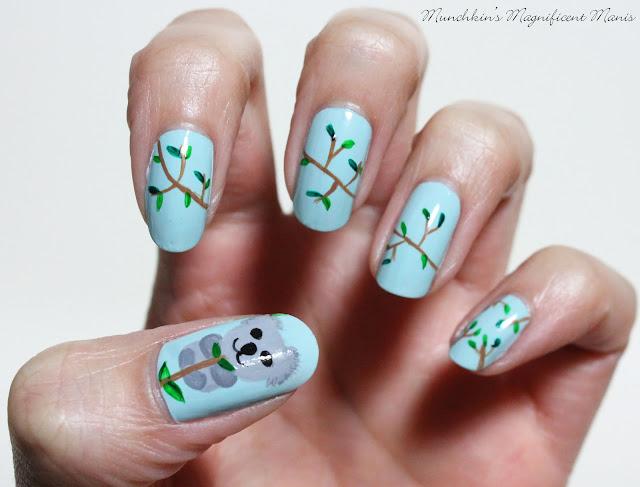 Koala Nail Design