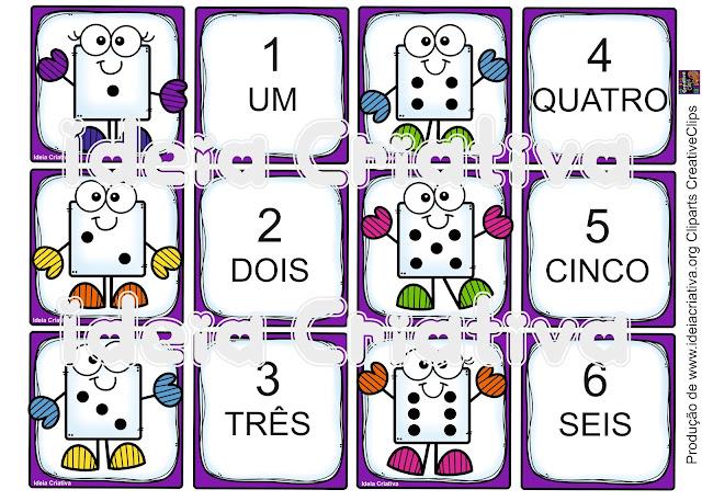 Cartões para realizar jogos pedagógicos na área de matemática