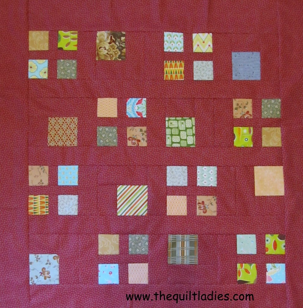 How to make a floating square quilt pattern.