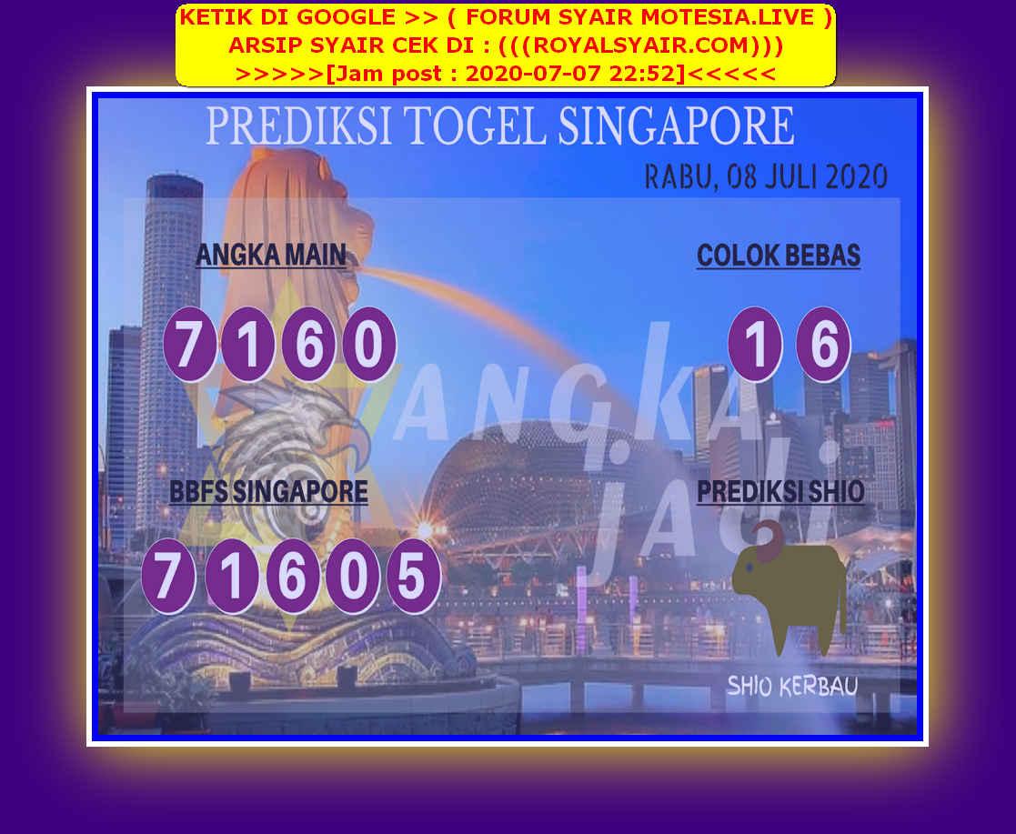 Kode syair Singapore Rabu 8 Juli 2020 218