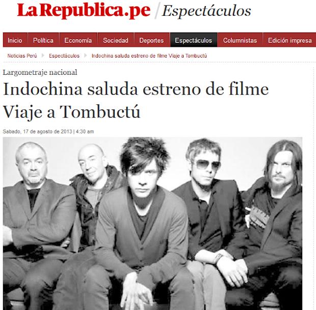 Diario la República reproduce la información de Indochine Perú