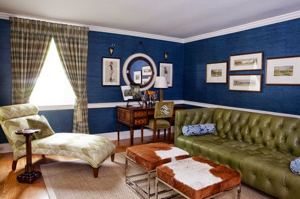 Salas En Verde Y Azul Salas Con Estilo