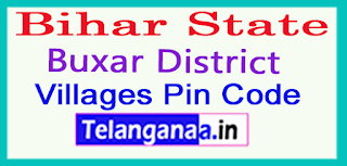 Buxar District Pin Codes in Bihar State