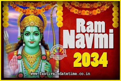 2034 Ram Navami Pooja Date & Time, 2034 Ram Navami Calendar