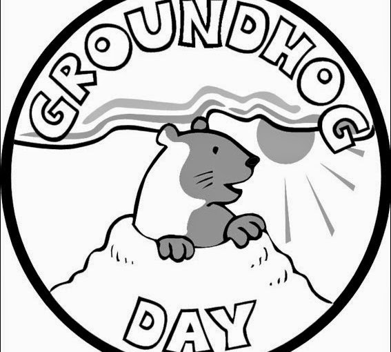 groundhog day coloring pages 4