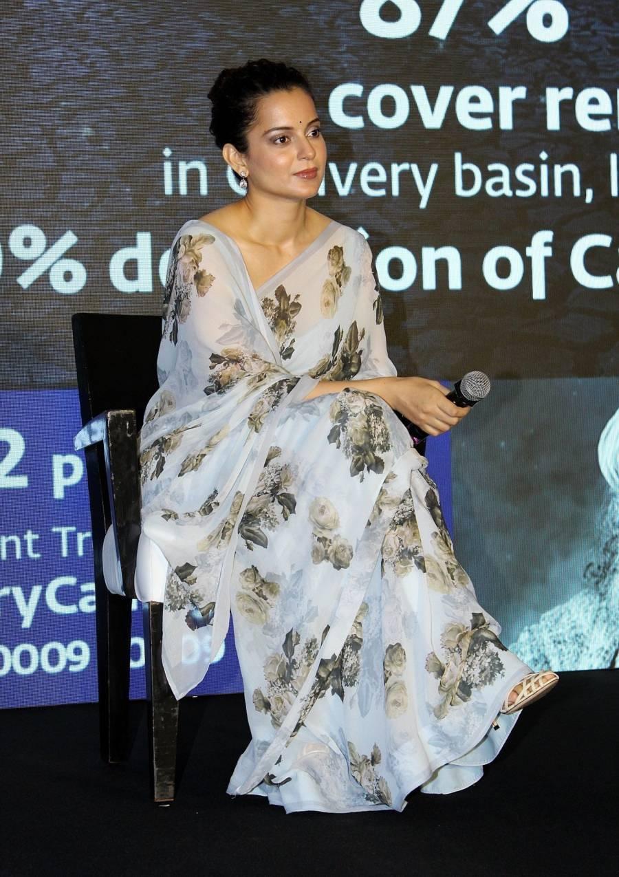 Kangana Ranaut At Press Conference Of Cauvery Calling Campaign