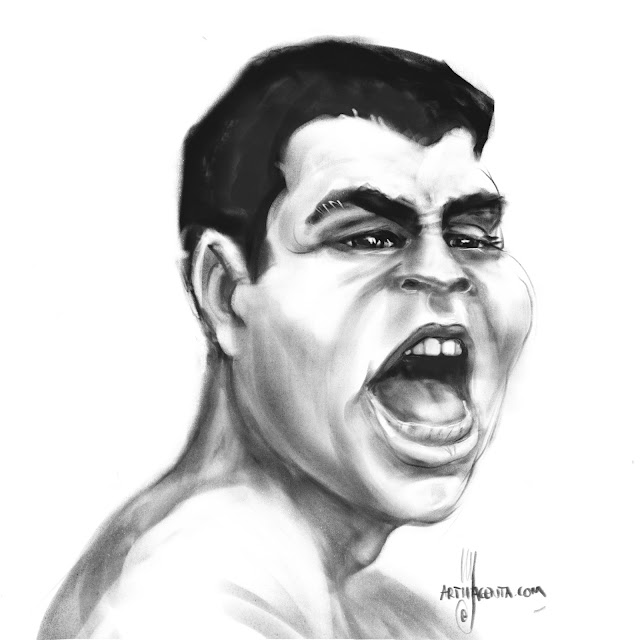 Muhammad Ali caricature by Artmagenta