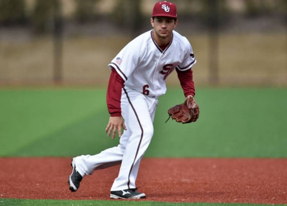 Marc Giacalone scored three runs in Saint Joseph's first win of season