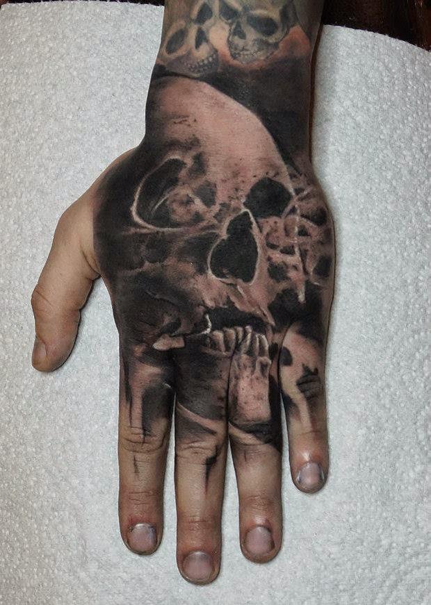 Tatuaż Czaszka Na Dłoni Cz 1 Tatuaże 100 Pro