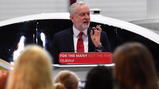 Corbyn condena 'silencio' del Occidente ante crímenes de Israel
