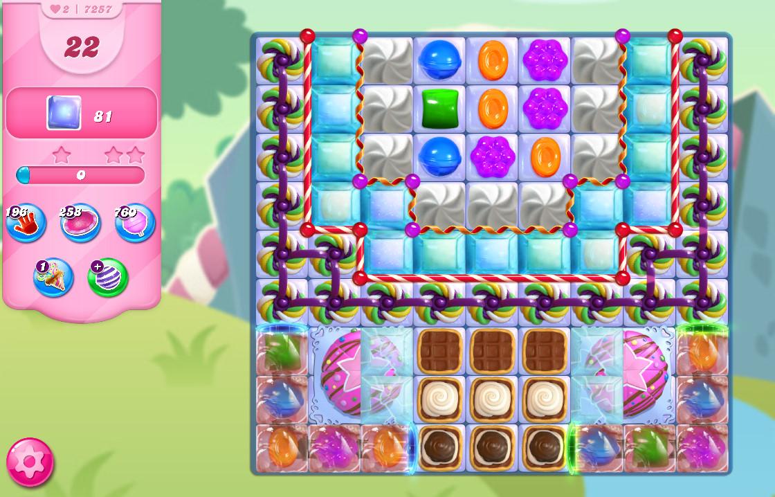 Candy Crush Saga level 7257