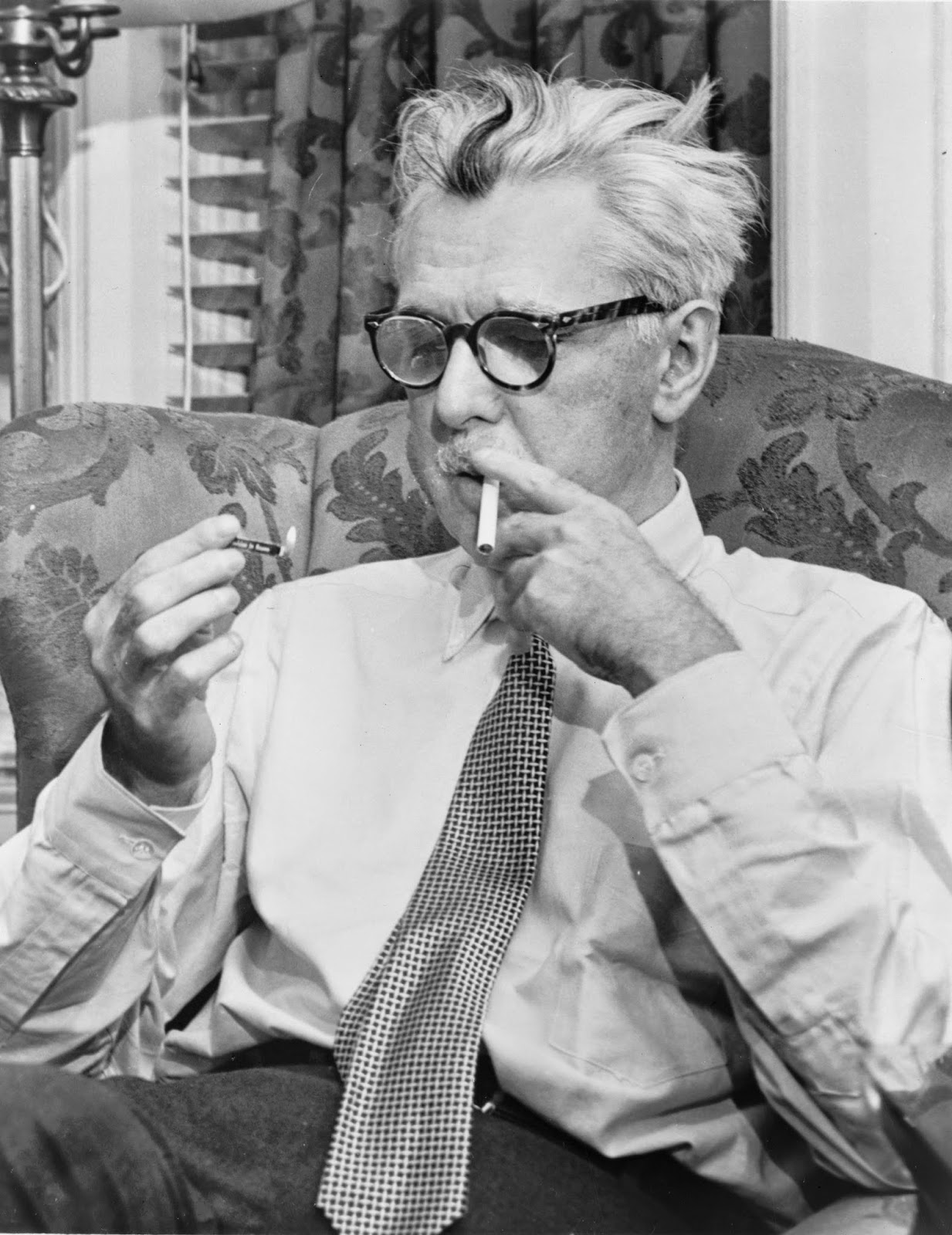 Photo of James Thurber.  Image Source: http://upload.wikimedia.org/wikipedia/commons/8/8c/James_Thurber_NYWTS.jpg