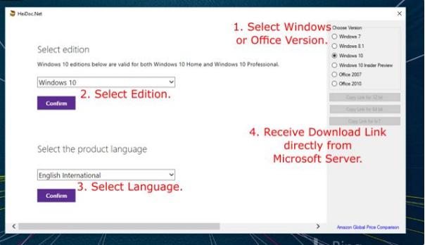 Descargar iso de Windows 10 y 8.1
