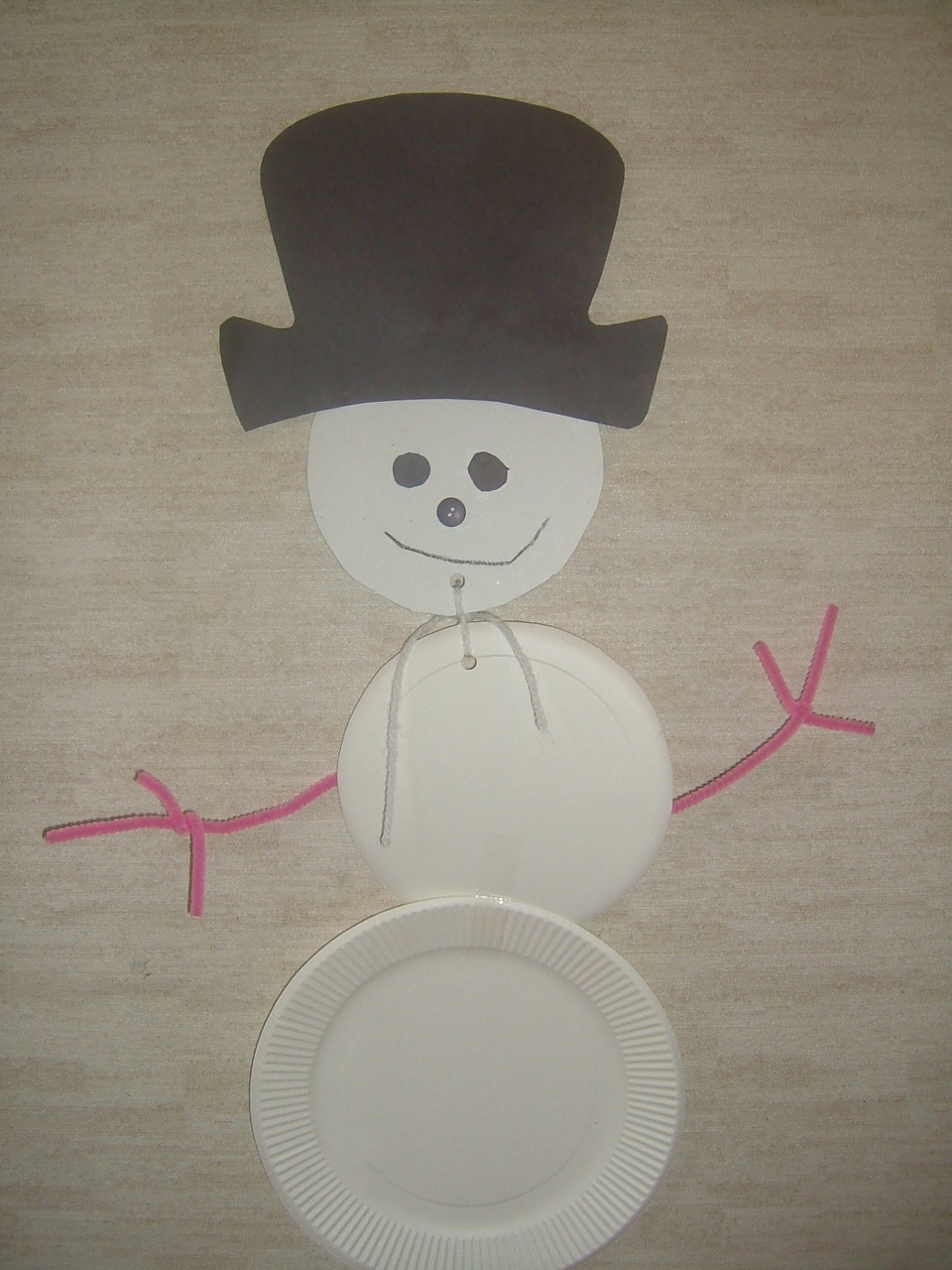 Easy Snowman Snack: Preschool Crafts For Kids*: Easy Paper Plate Snowman Craft
